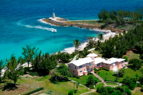 Little Whale Cay Aerial House Boat