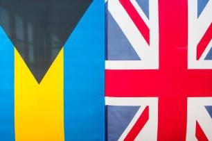 The Bahamas and British flag